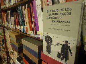 El libro de Geneviève Dreyfus-Armand, en la Biblioteca de la Casa de la MemoriaLa Sauceda.
