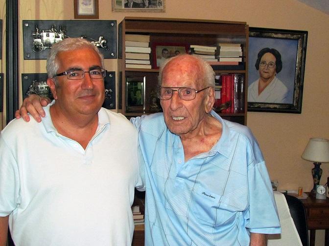 Francisco Serrano, con José Manuel Algarbani.