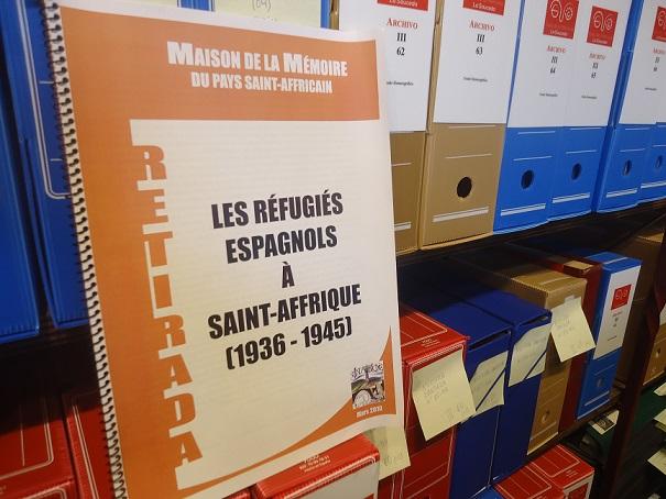 El estudio Les Réfugiés Espagnols à Saint-Affrique, en el Archivo de la Casa de la Memoria La Sauceda.