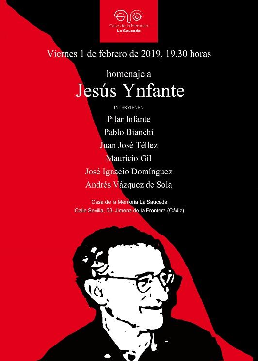Cartel del homenaje a Jesús Ynfante.