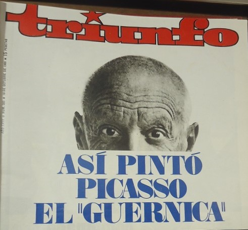 Portada de Triunfo de 18 e octubre de 1969, en el Archivo de la Casa de la Memoria.