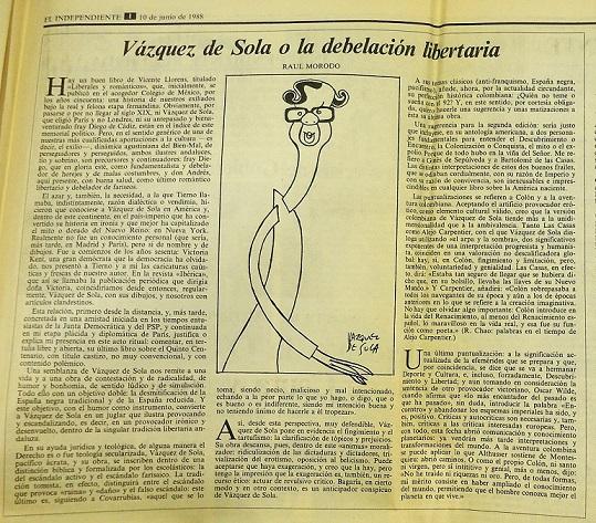 Artículo publicado en El Independiente el 10 de junio de 1988.