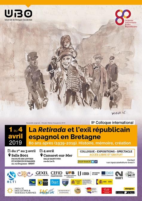 Cartel del coloquio internacional de Brest.
