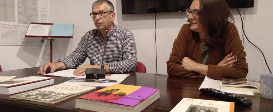 José Beneroso y Belén López Collado, en la presentación del libro.