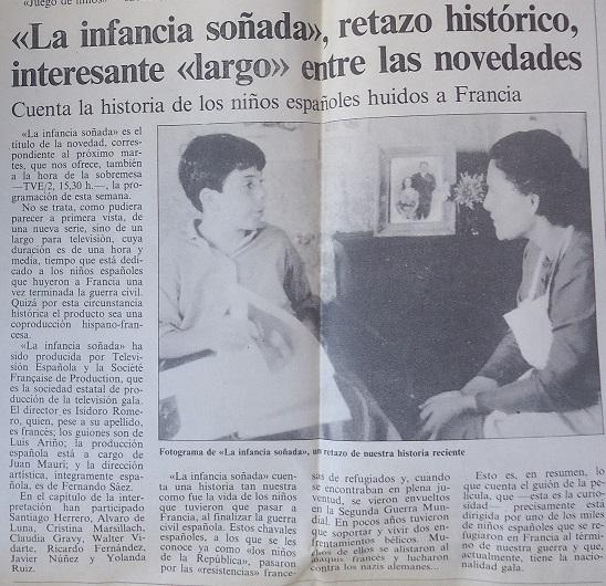 Recorte de El Independiente, en el archivo de la Casa de la Memoria.