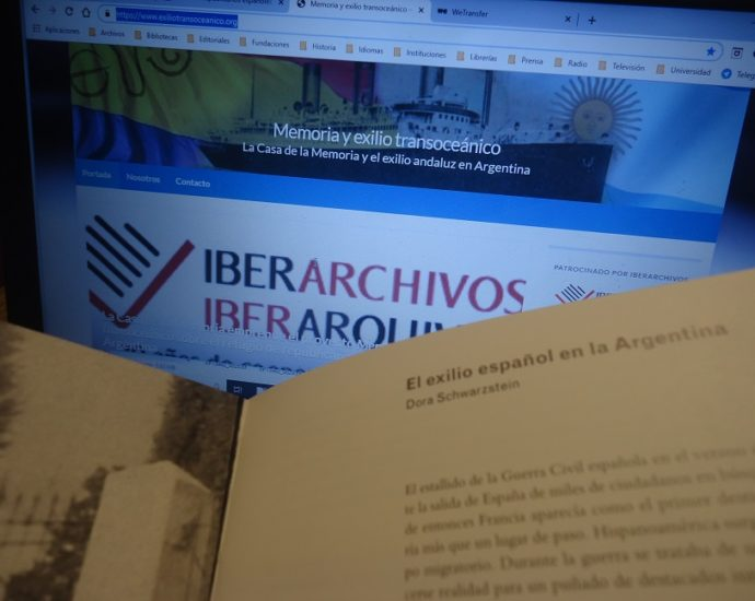 Título del artículo que enmarca el contexto histórico general del exilio republicano español en Argentina.