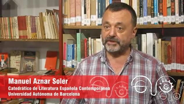 Manuel Aznar Soler, en la Casa de la Memoria La Sauceda.