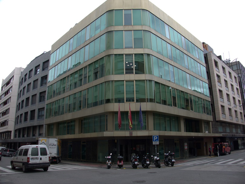 Edificio que alberga el Instituto Navarro de la Memoria, en Pamplona.