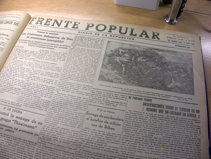 Ejemplar de Frente Popular.