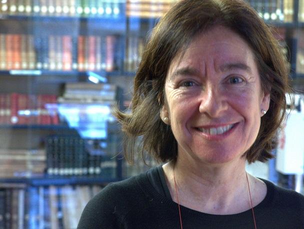 Susana Araiz, durante la entrevista.