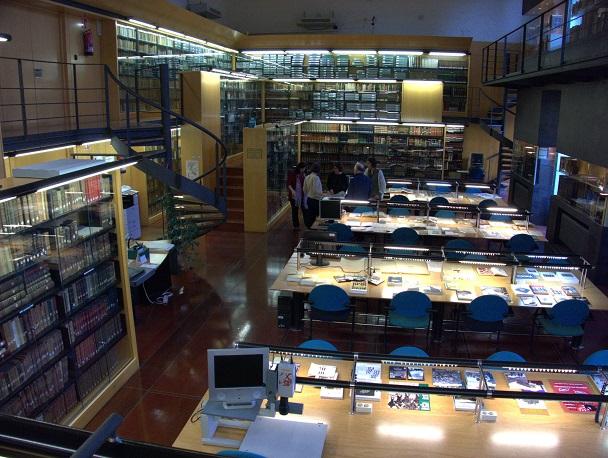 Sala del fondo de reserva de la biblioteca de Koldo Mitxelena.