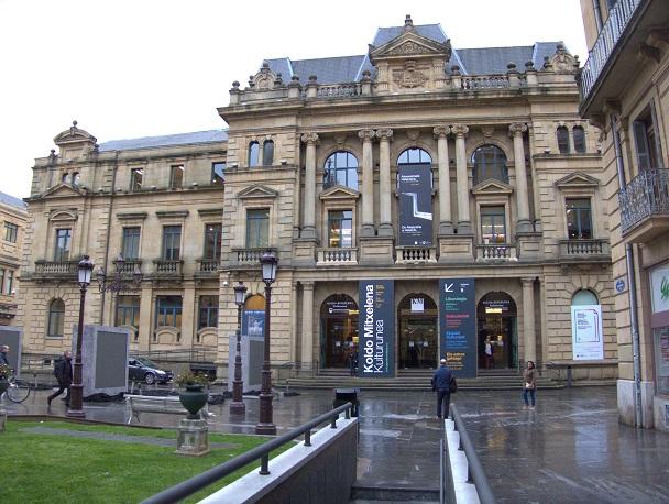 Edificio que alberga la biblioteca de Koldo Mitxelena, en San Sebastián.