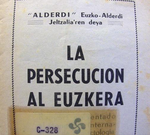 Publicación sobre la persecución del euskera.