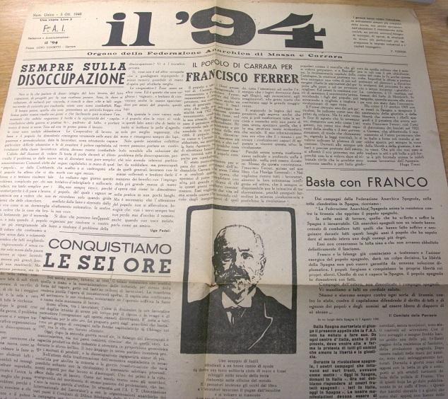 Publicación anarquista italiana.