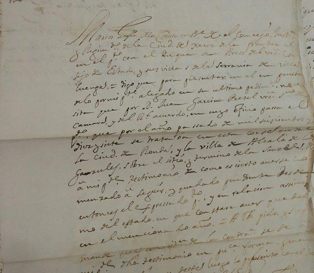Documento del Archivo de la Real Chancillería de Granada.