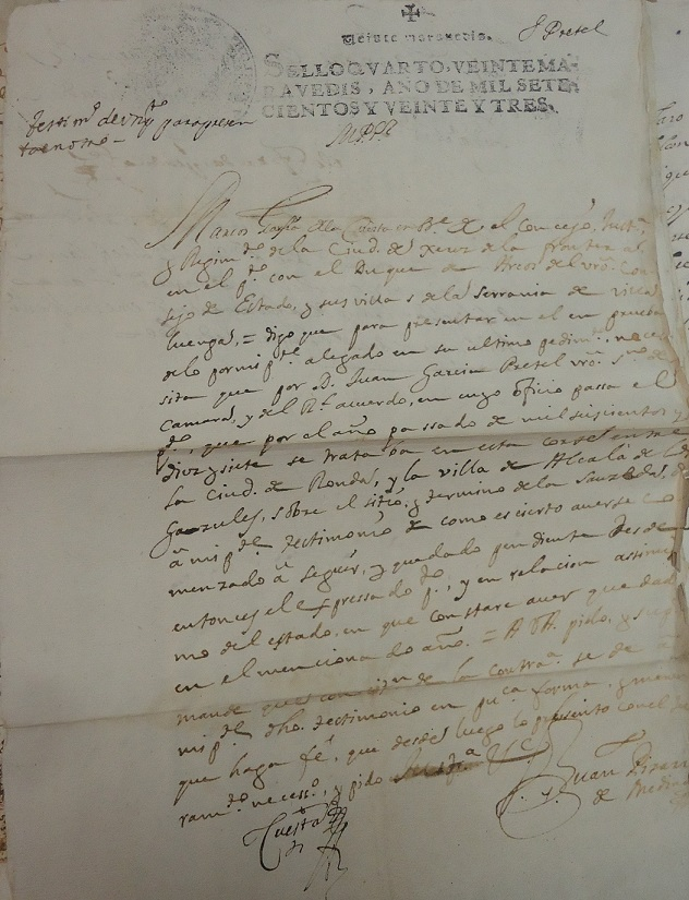 Documento del Archivo de la Real Chancillería de Granada.