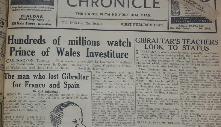 Gibraltar Chronicle, 2/7/1969, pág 1.