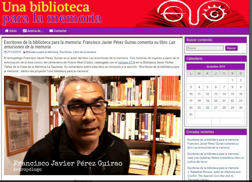 Captura de la web Una biblioteca para la memoria.