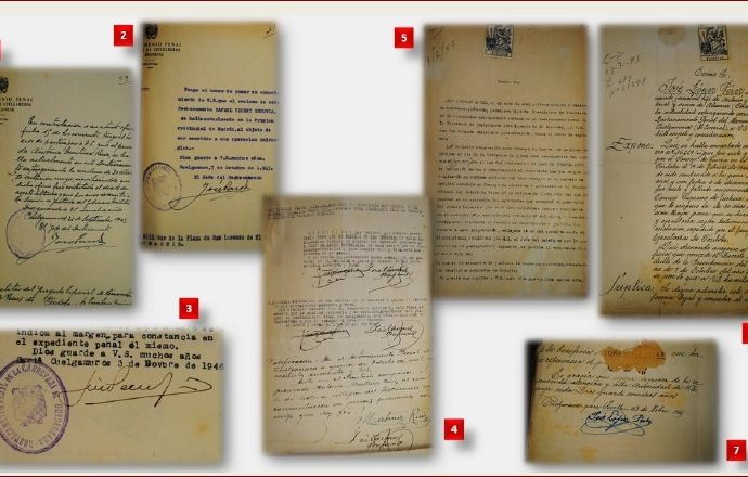 Documentos sobre víctimas trasladadas al Valle de los Caídos.