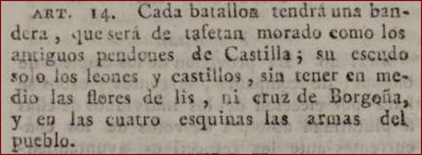Reglamento provisional para la Milicia Nacional local en la península e islas adyacentes de 1820.