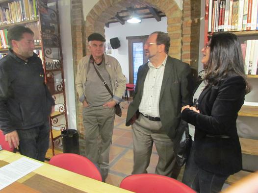 John Cortés, durante su visita a la Casa de la Memoria.