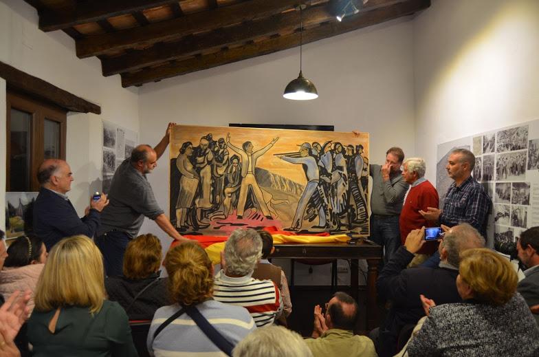 El pintor Antonio Rodríguez Agüera dona a la Casa de la Memoria el cuadro Sucedió en la Sauceda.