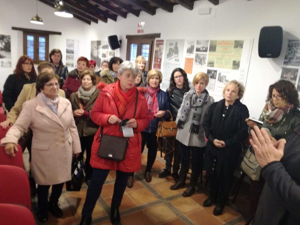 Integrantes de las asociaciones de mujeres de Jaén, en la Casa de la Memoria.