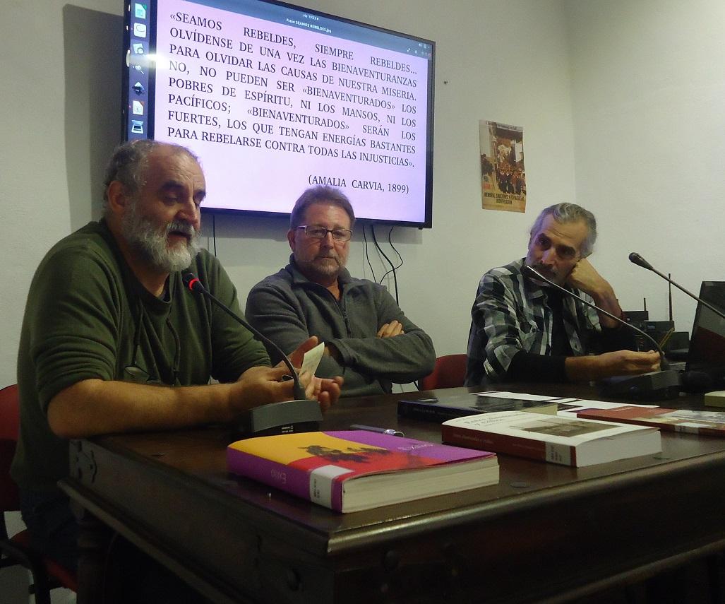Juan León Moriche, Andrés Rebolledo y Manuel Almisas.