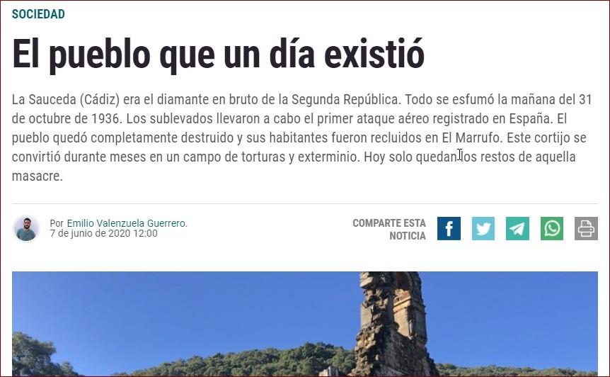 Captura del artículo sobre la Sauceda en La Última Hora.
