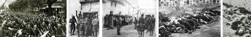 Imágenes de la represión.