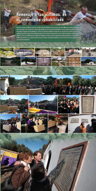 Panel sobre el entierro digno de las víctimas.