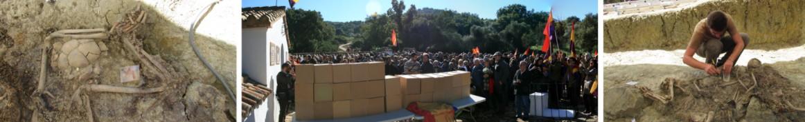 Restos de las víctimas en las fosas y entierro digno de las víctimas.