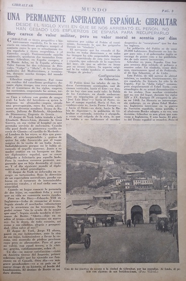 Artículo sobre Gibraltar en Mundo.