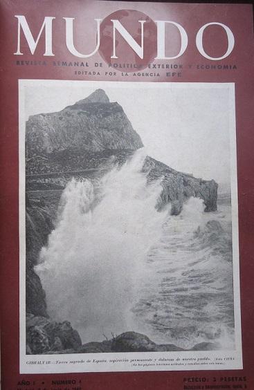 Portada de la revista Mundo con una fotografía del Peñón.