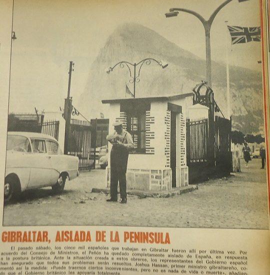 Noticia sobre Gibraltar en la revista Triunfo.
