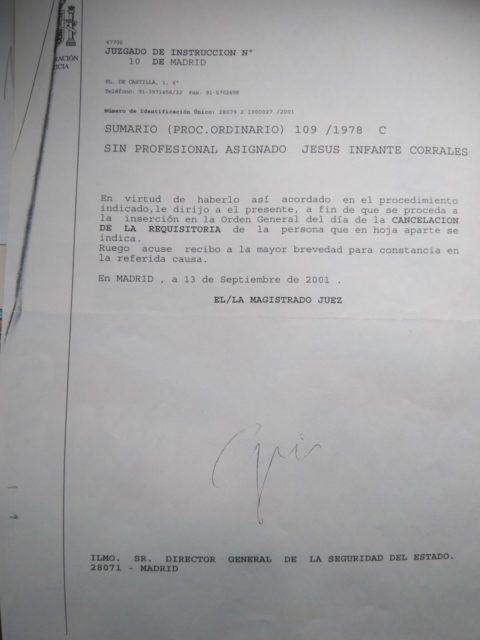 Finalización del proceso en 2001