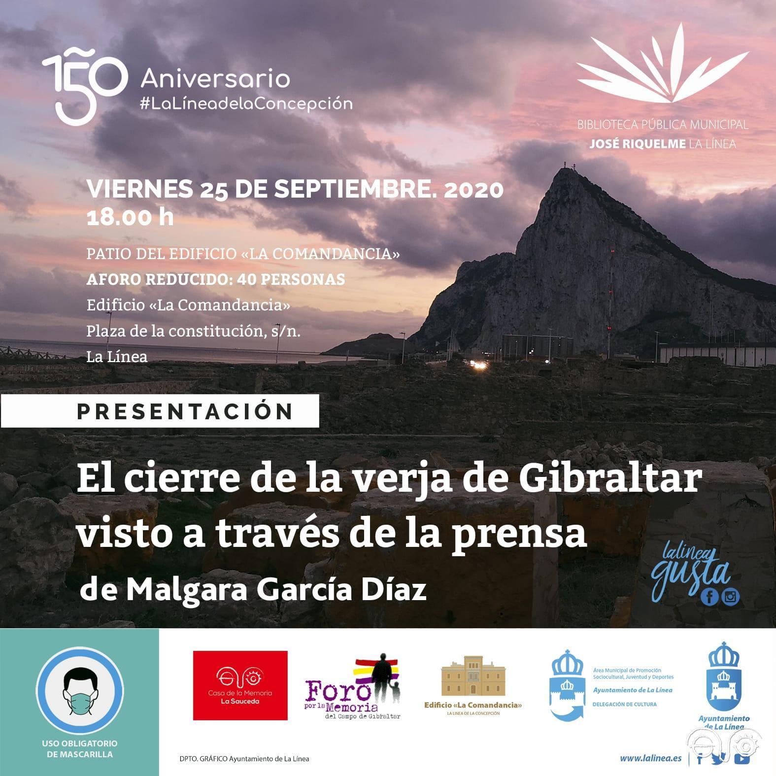 Cartel del anuncio de la presentación del libro.