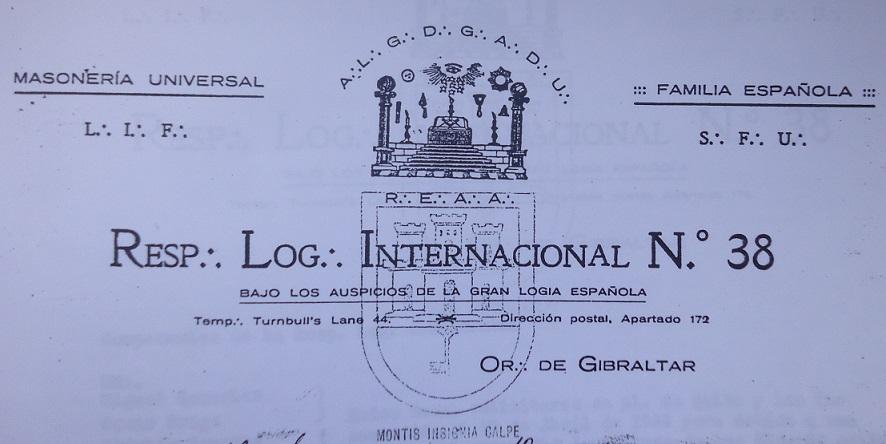 Cabecera de una plancha de Internacional.
