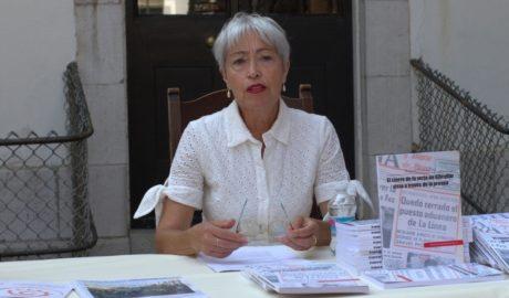 Malgara García Díaz, en la presentación de su monografía en Gibraltar.