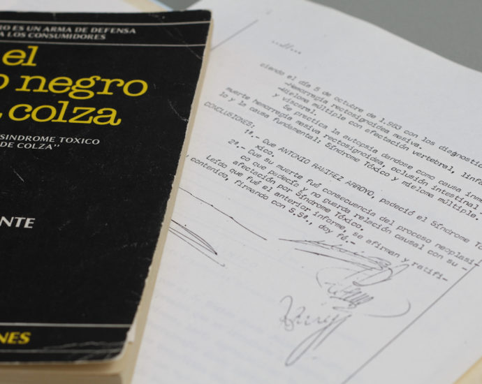 Extracto de la sentencia sobre el fallecido con síndrome tóxico y el libro de Jesús Ynfante sobre la colza.