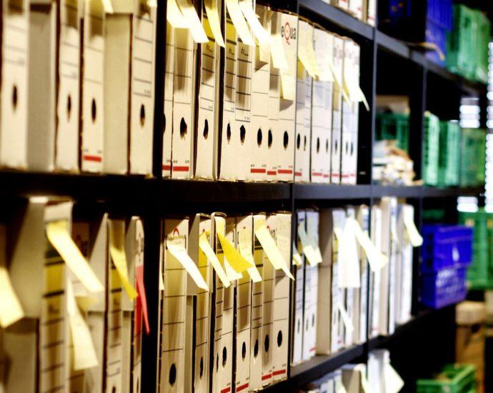 Legajos del archivo de la Casa de la Memoria.