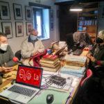 Malgara García, Fernando Sígler y Andrés Rebolledo, durante la sesión de grabación de este podcast.