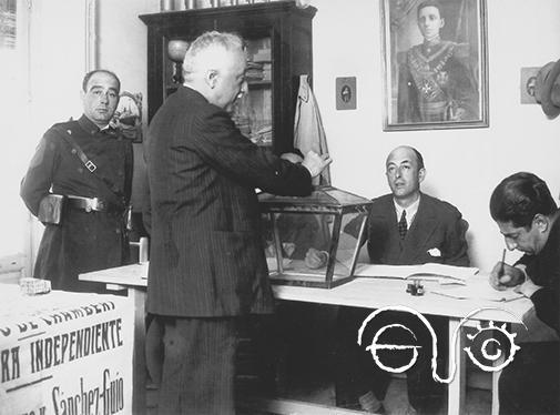 Votación de Alcalá Zamora en las eleccones locales del 12 de abril de 1931.