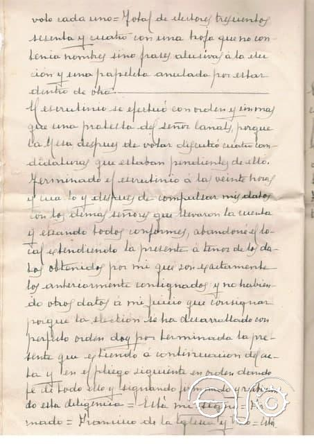 Acta notarial sobre las elecciones locales del 12 de abril de 1931 en Jimena.