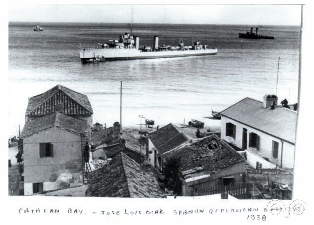 The ship in Catalan Bay, 1938