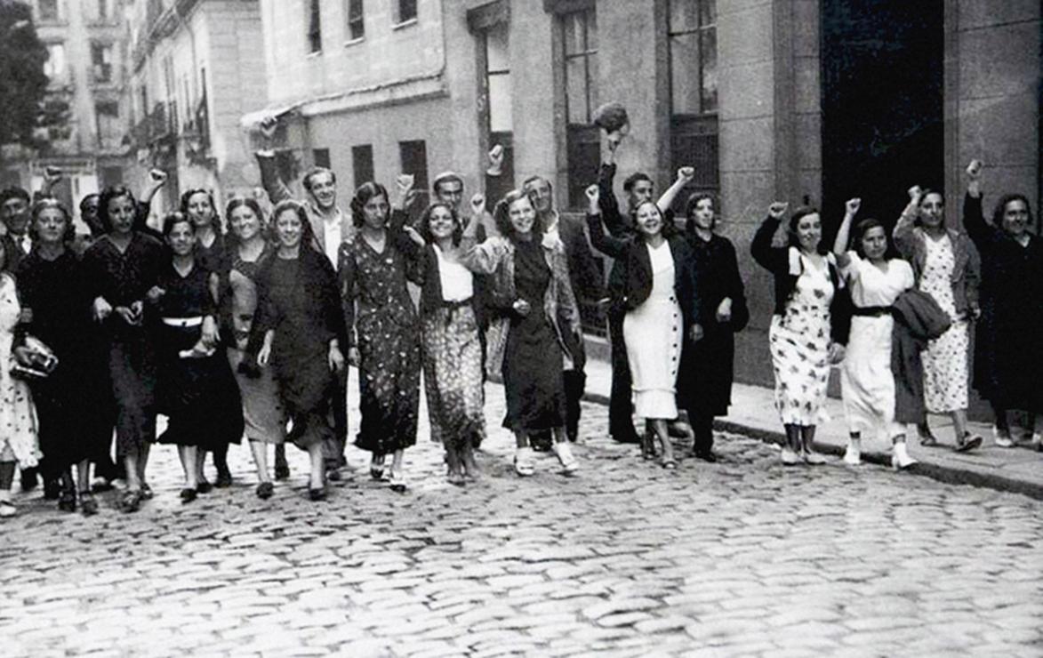 Manifestación republicana de mujeres.