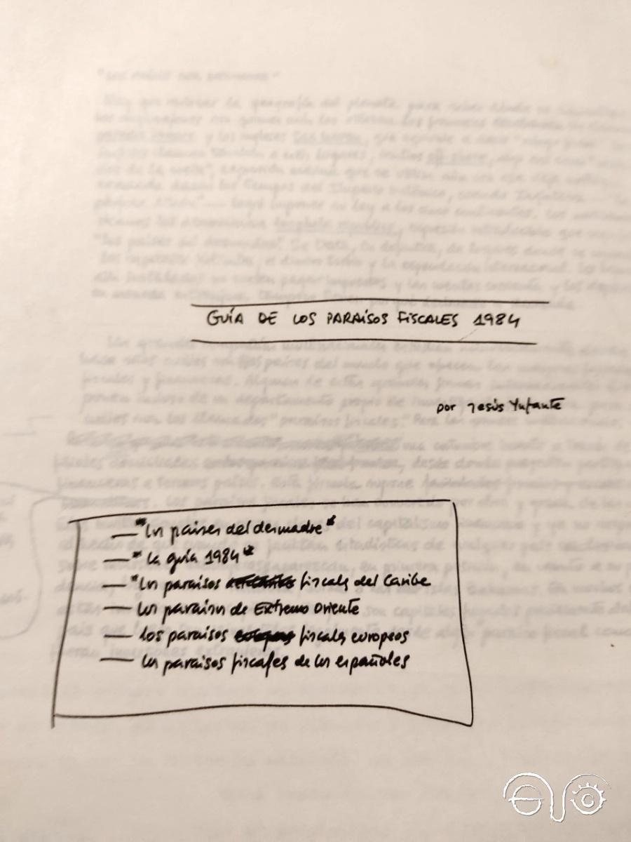 Apuntes de Jesús Ynfante sobre paraísos fiscales (1984)