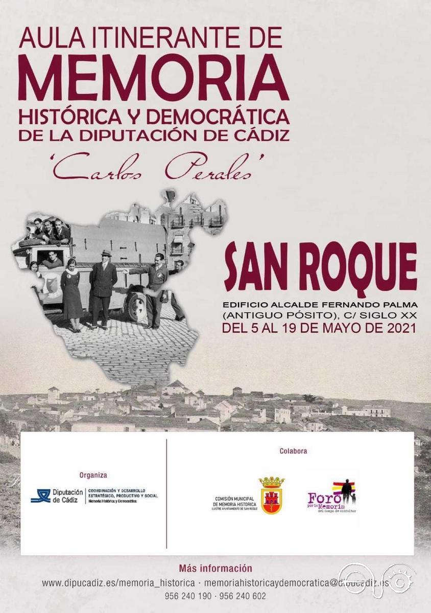 Cartel del Aula Itinerante de la Memoria.