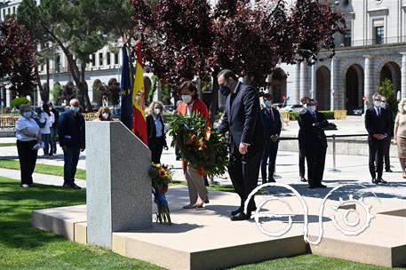 Homenaje a las víctimas del nazismo, en Madrid.