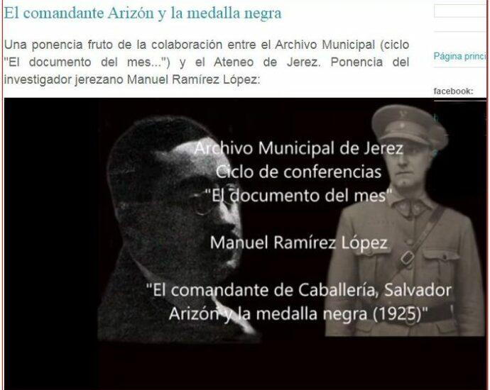Ponencia impartida por Manuel Ramírez López.